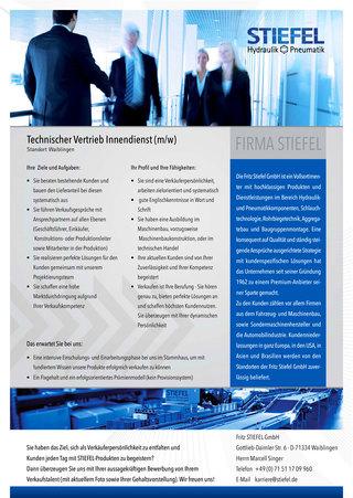 Technischer Vertrieb Innendienst (m/w) - Standort Waiblingen