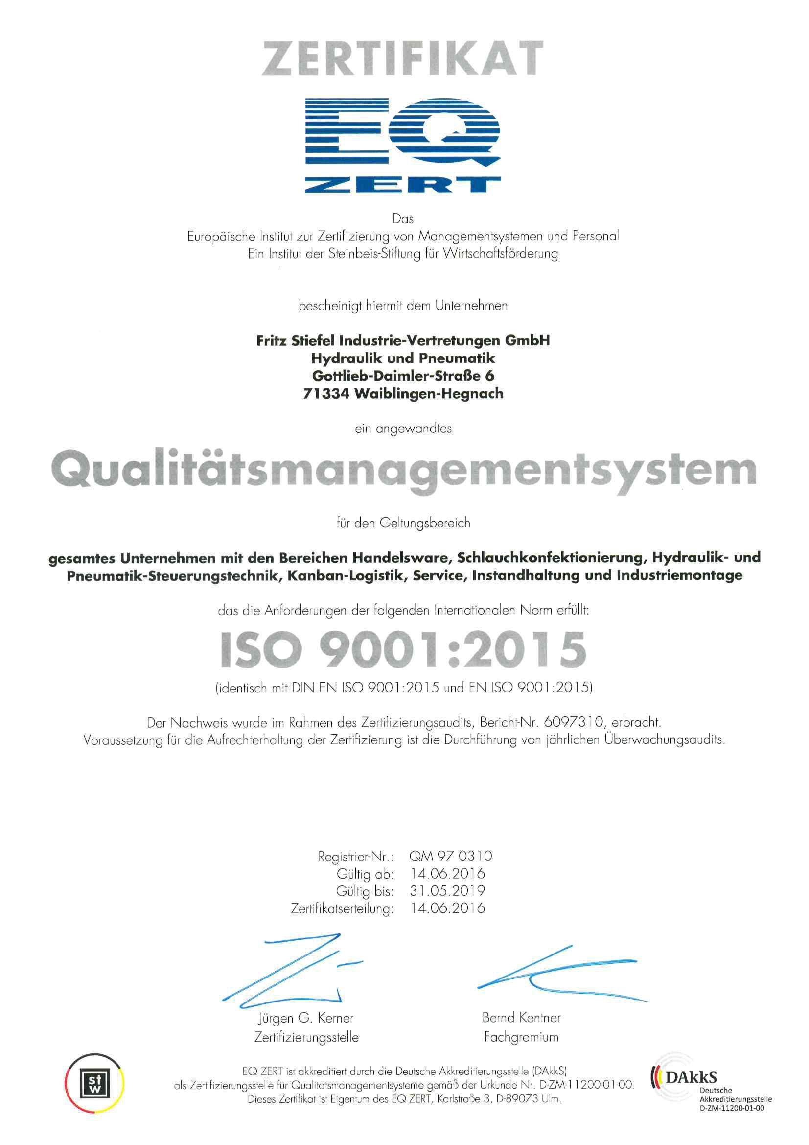 Certification Stiefel Waiblingen