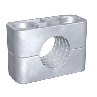Rohrschelle Standard Baureihe Aluminium Al Gerippt 2 30