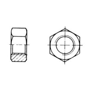 sechskantmutter din 934 m14 blank 0 14. Black Bedroom Furniture Sets. Home Design Ideas