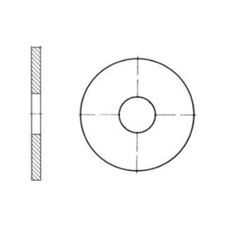 M10 gelb verzinkt NEU 25 Stück Scheiben ohne Fase Stahl DIN 125A M4